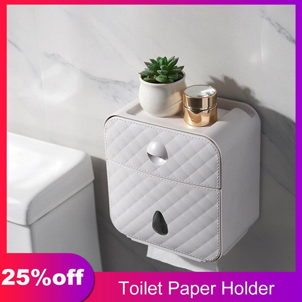 держатель для туалетной бумаги Креативный держатель туалетной бумаги водонепроницаемый бумажный держатель полотенец для кухни, ванной, туалета коробка для хранения бумаги держатель рулона унитаза