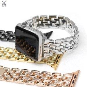 Stainless steel strap for Apple Watch series 7 6 SE 5 4 3 thin wrist strap modern design for iWatch 41 45mm women link bracelet