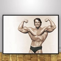 arnold schwarzenegger poster bedroom decor wall pictues for boys dorm room decor home decor gym decorative canvas painting