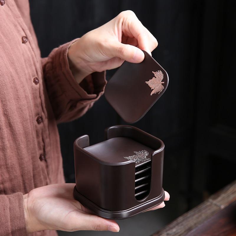مصوغة بطريقة الباكليت الشاي حصيرة الوقايات الدعاوى مزيج أواني الشاي الإبداعية العزل الشاي حصيرة صينية الشاي