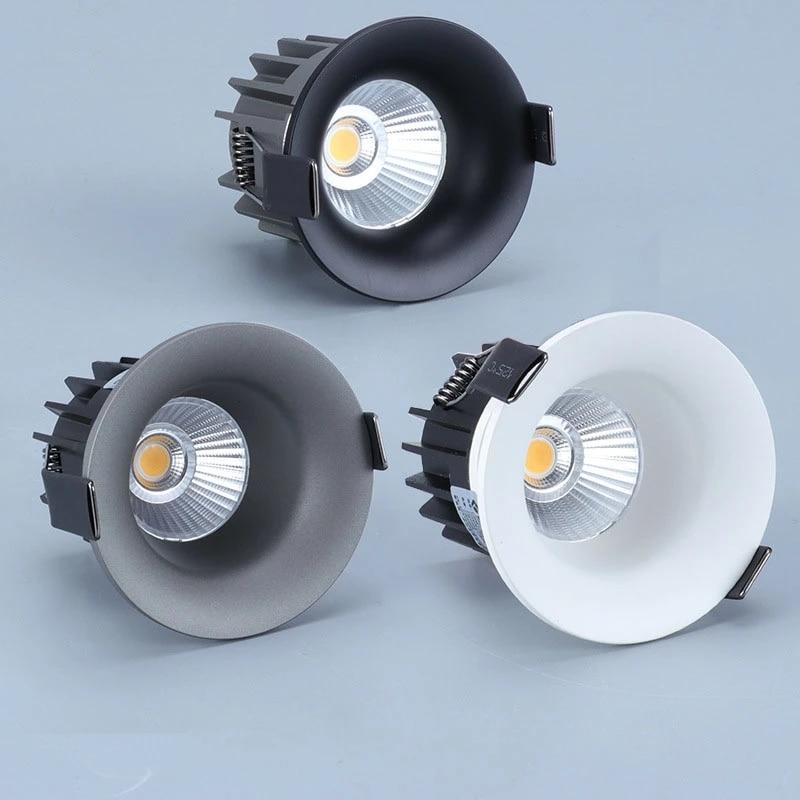 Luz descendente LED superbrillante para habitación, foco de techo COB regulable, 10W,...