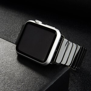 Ceramic Strap for Apple Watch Band 42mm 38mm Stainless steel buckle watchband bracelet iwatch series 5 4 3 se 6 band 40mm 44mm