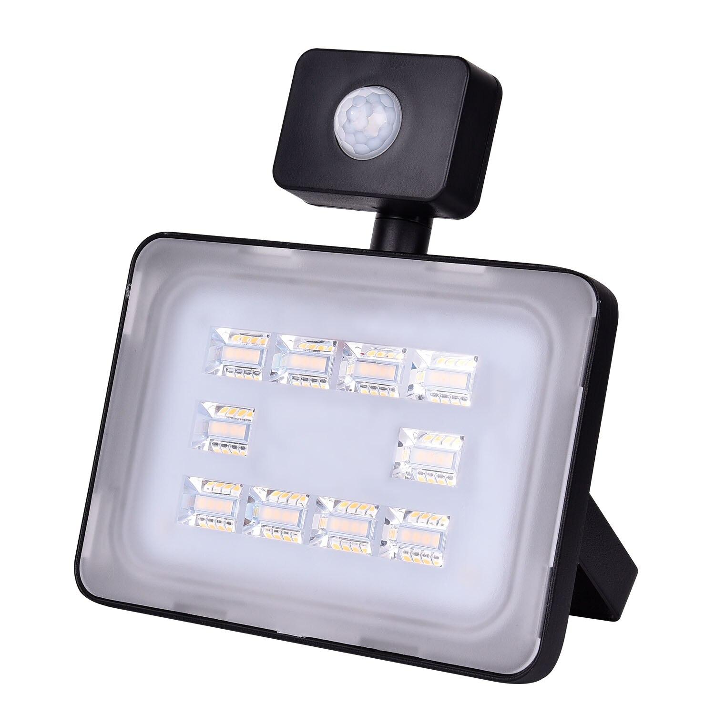 30W LED Flood Light 6th Verstion Outdoor Christmas Lights 110V PIR Sensor Night Floodlight Lighting 3000LM flood light US STOCK