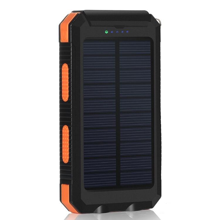 De moda de Banco de energía Solar para teléfonos inteligentes cargador de teléfono batería externa banco de energía portátil de carga rápida celular Bateria móvil