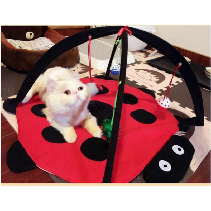 Divertido juego para gato mascota tienda de campaña juguetes cojín de gatito regalo de ejercicio cama de tienda plegable cama de juguete para muñecas cama de perro mascota gatos 2