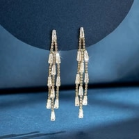 fringed earrings for 2021 shining like a diamond 925 silver fashion love gifts for women crystal jewelry designer wholesale