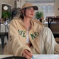 weiyao y2k vintage oversized women hoodies harajuku aesthetic zip up hooded sweatshirt top long sleeve 90s e girl clothes casual