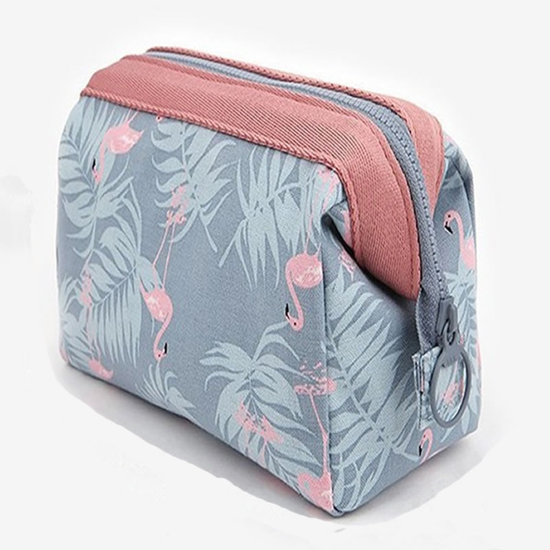 Women Travel Animal Flamingo Make Up Bags Girl Cosmetic Bag Makeup Beauty Wash Organizer Toiletry po