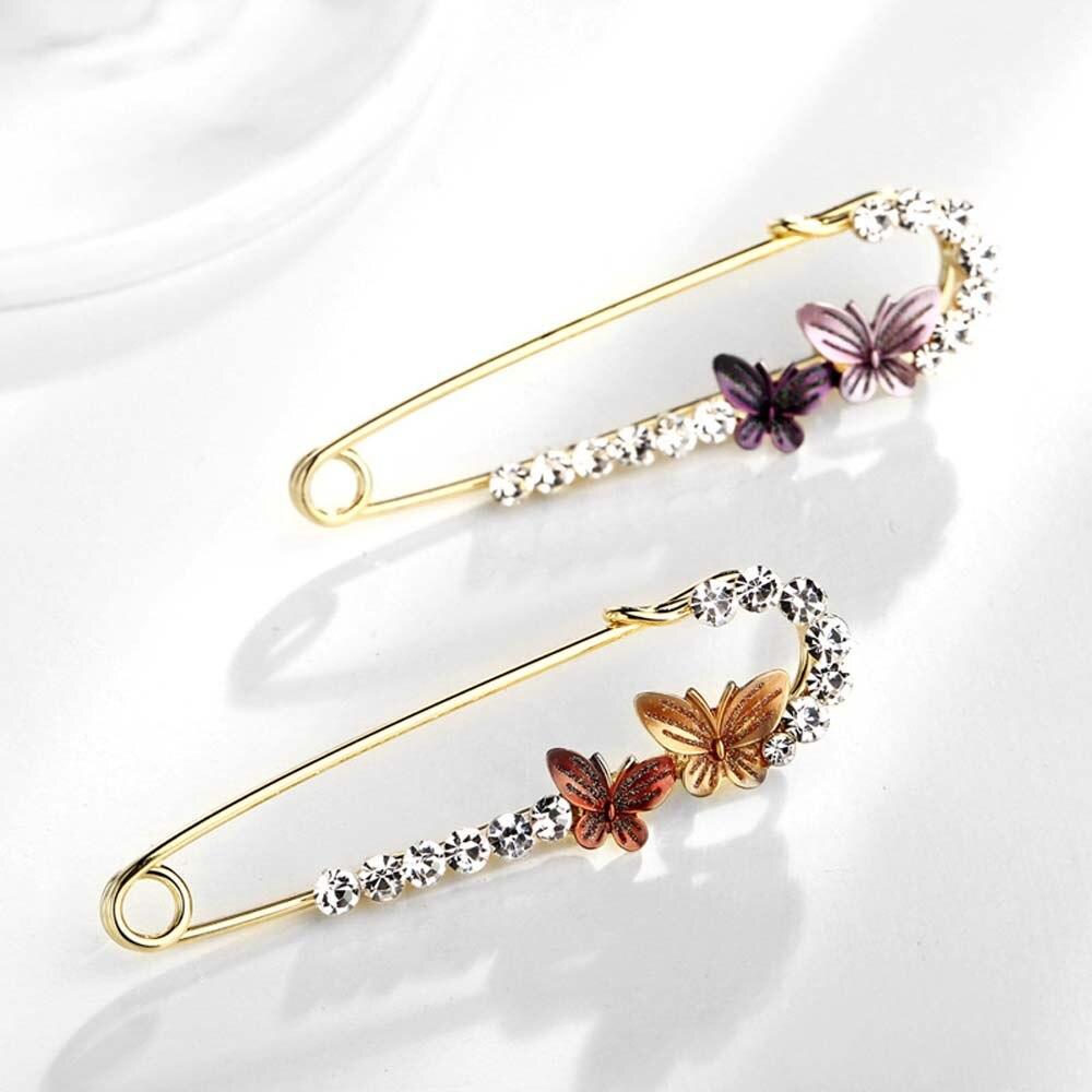 Gran tamaño colgante encanto Hijab pines para las mujeres Pavo Real Swan mariposa Animal perla broche de lazo para las mujeres joyería de accesorios de moda