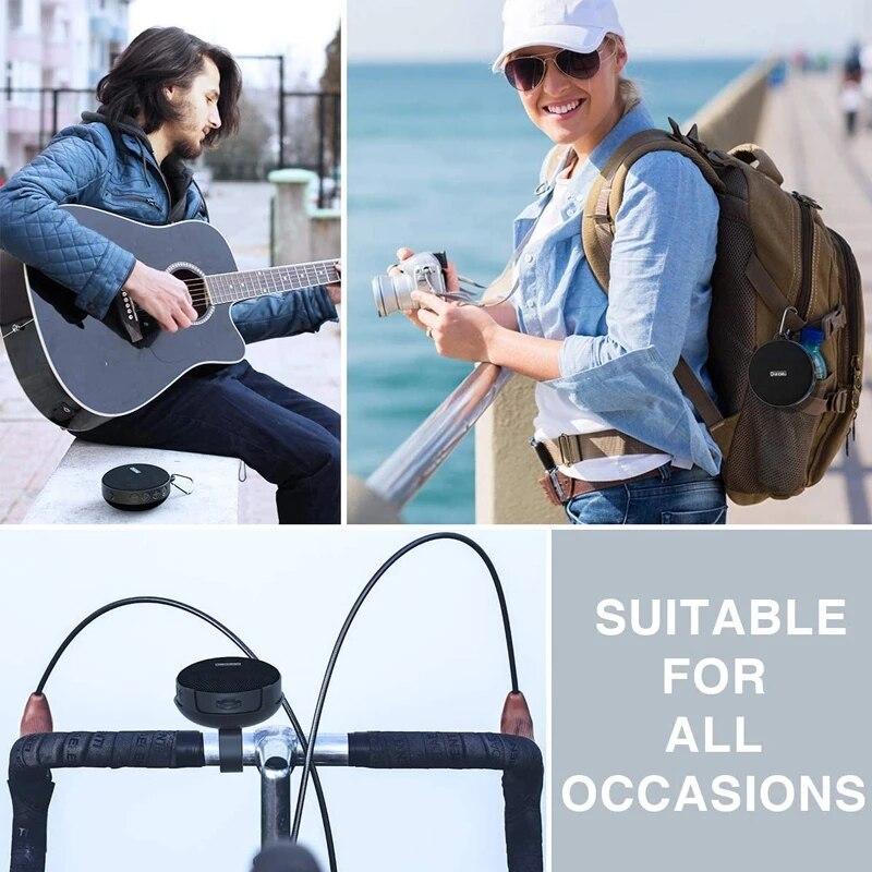 Bluetooth Speaker Subwoofer+Bike Mount 3D Stereo Loudspeaker Shower Portable Outdoor Hands Free IPX7 Waterproof Mini Boombox enlarge