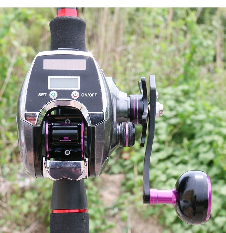 2021 NEW 8.0:1 6+1BB Fishing Reel Single Left / Right Hand Low Profile Line Counter Fishing Tackle Gear with Digital Display enlarge