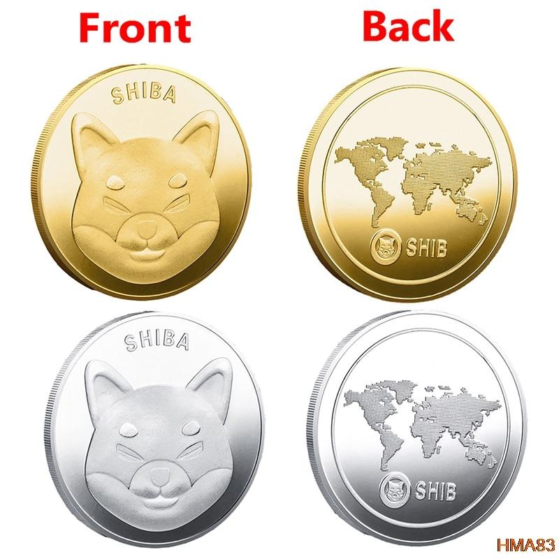 Металлическая позолоченная физическая монета Шиба-шиб, сувенирные памятные монеты, коллекционные монеты