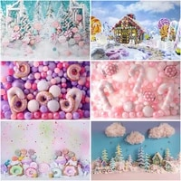 christmas winter dream photography backdrops candy balloon wall decorations baby portrait photo props studio booth background