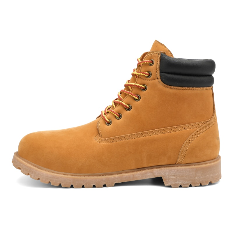 Yellow High Top Mens Boots Leather Winter Snow Boots Men Waterproof With Keep Warm Timber Booties Land Shoes Large Size39-47