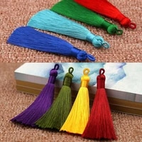 long silk tassel handmade for earrings 8cm new hot 25 colors high quality bohemia 1pc1pair diy for bookmark jewelry accessories