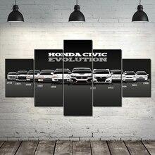 Affiches dimages modulaires en Art mural   Toile imprimée de Honda CIVIC, peinture de voiture, décoration de maison moderne, cadre de salon à la mode