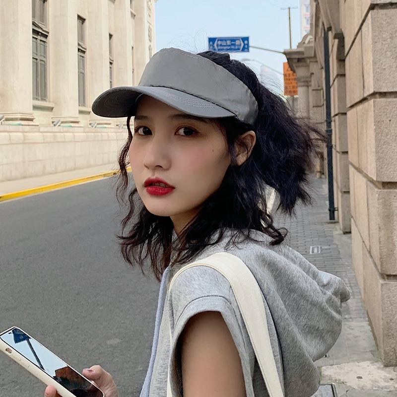 Women's Luminous Cool Fluorescent Reflective Peaked Cap Summer Korean-Style Trendy All-Matching Hip
