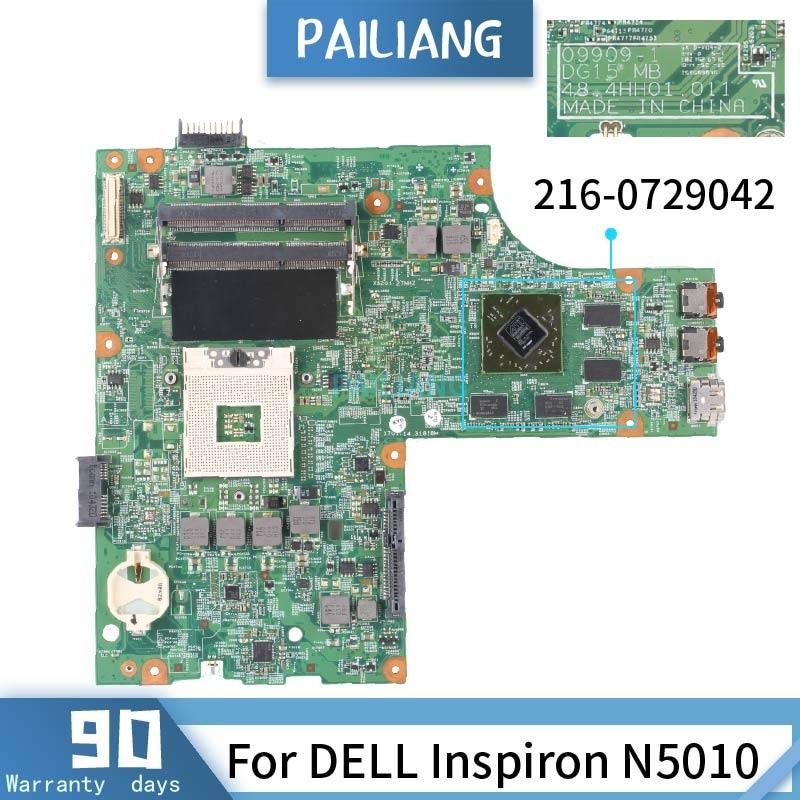 اللوحة الأم للكمبيوتر المحمول, 09909-1 ل DELL Inspiron N5010 216-0729042 HM57 اللوحة الأم للكمبيوتر المحمول DDR3 تم اختبارها OK