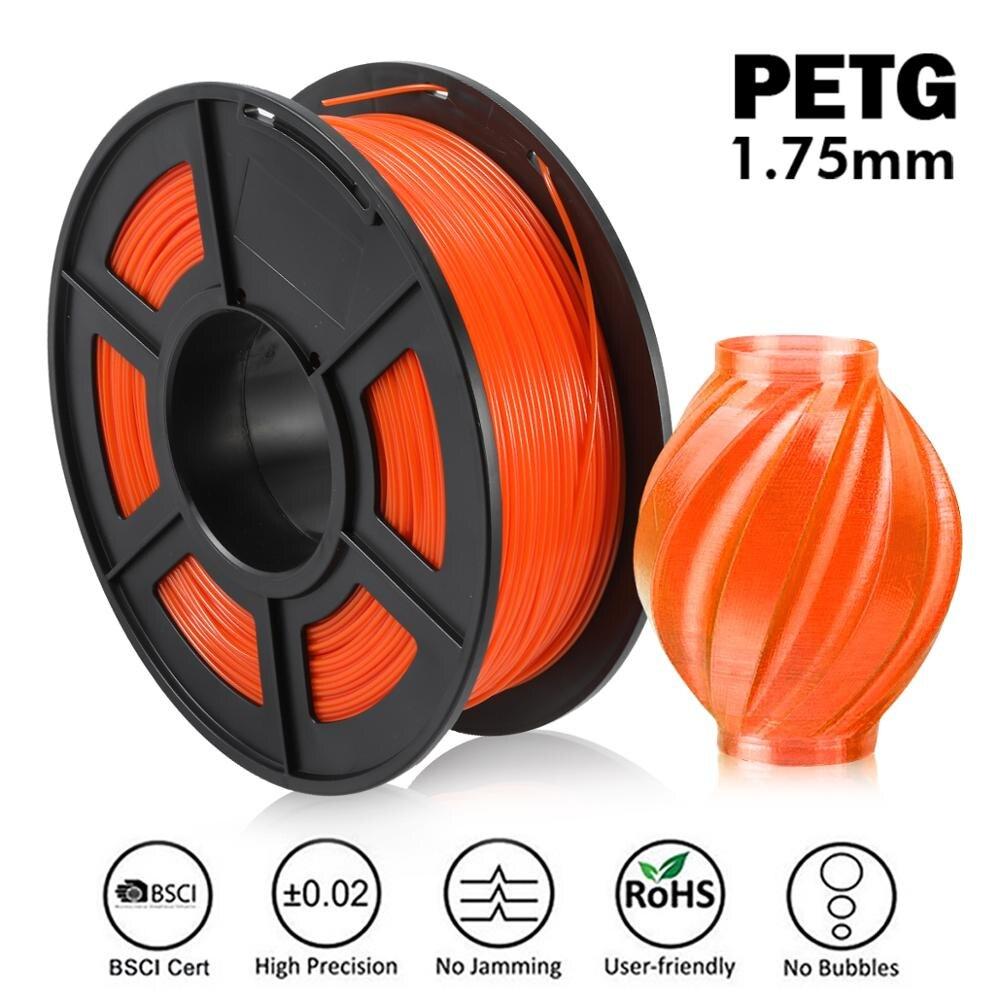 Filamento de impresora 3D enopad PETG 1,75mm 1KG/2,2lb carrete Nuevas existencias compatible con pedidos al por mayor para diseño de bricolaje y comercio