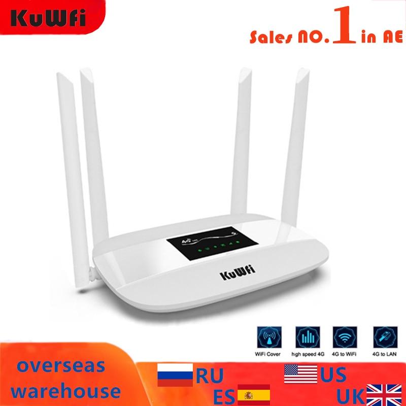 300Mbps 4G راوتر مقفلة 4G LTE CPE راوتر لاسلكي دعم سيم بطاقة 4 قطعة هوائي مع LAN ميناء دعم يصل إلى 32 مستخدمين واي فاي