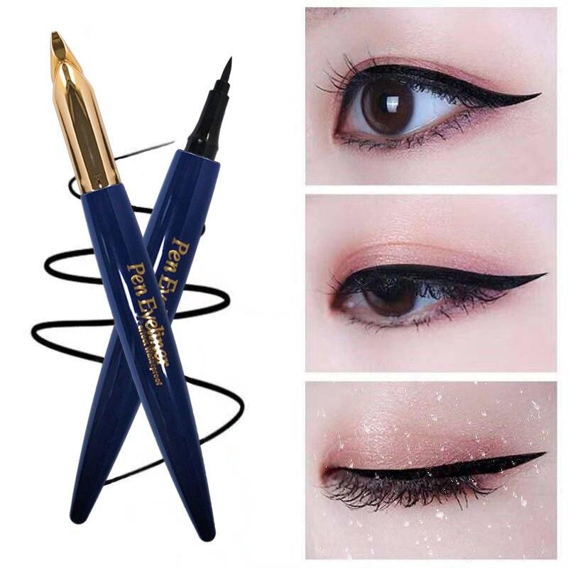 Black pen eyeliner long-lasting waterproof quick-drying non-smudge non-marking eyeliner eye makeup makeup tool недорого