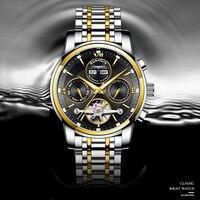Мужские Водонепроницаемые механические часы с календарем, автоматические наручные часы с сапфировым стеклом, 2021
