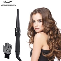 ckeyin professional hair curling iron hair waver pear flower cone electric hair curler roller curling wand hair styling tools