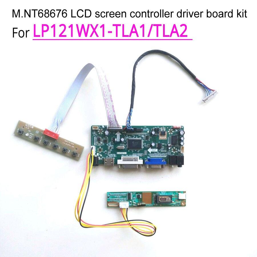 ل LP121WX1-TLA1/TLA2 M.NT68676 محرك شاشة تحكم مجلس VGA DVI LCD رصد 12.1