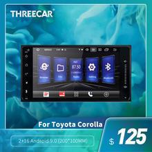 Autoradio 2din Android 9.0/8.1   Pour Toyota Corolla, lecteur multimédia, Bluetooth