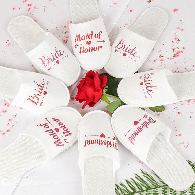 Zapatillas desechables suministros de decoración de boda hogar novia novio Zapatos rojo oro plata