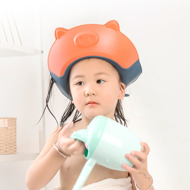 1 piece of baby shampoo shower cap to wash hair soft pp material adjustable bath protection cap hat baby children shampoo cap