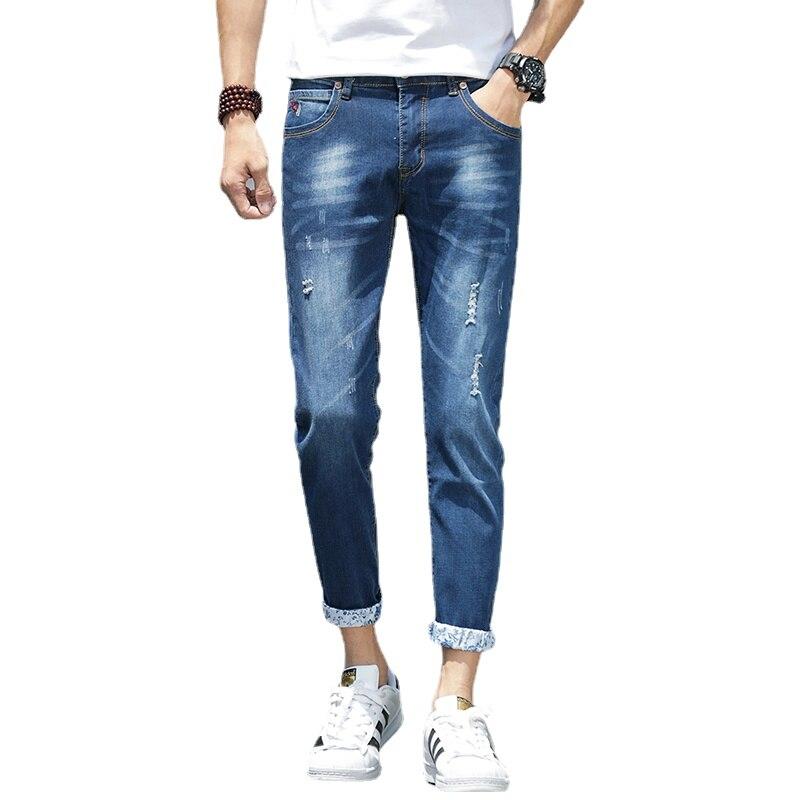 Мужские джинсы, мужские джинсы, Мужские штаны, корейские джинсы, брюки, джинсы, мужские джинсы, джинсы, брюки, мужские синие Повседневные Удо...