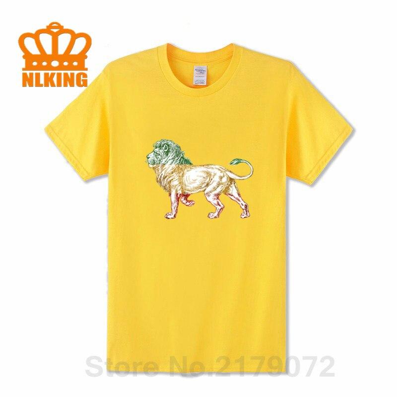2020 Designer Vestidos Lion of Judah T-shirt homme Camisa Rasta Reggae Ethiopia Jamaica Design Lion King T shirt hombre camiseta