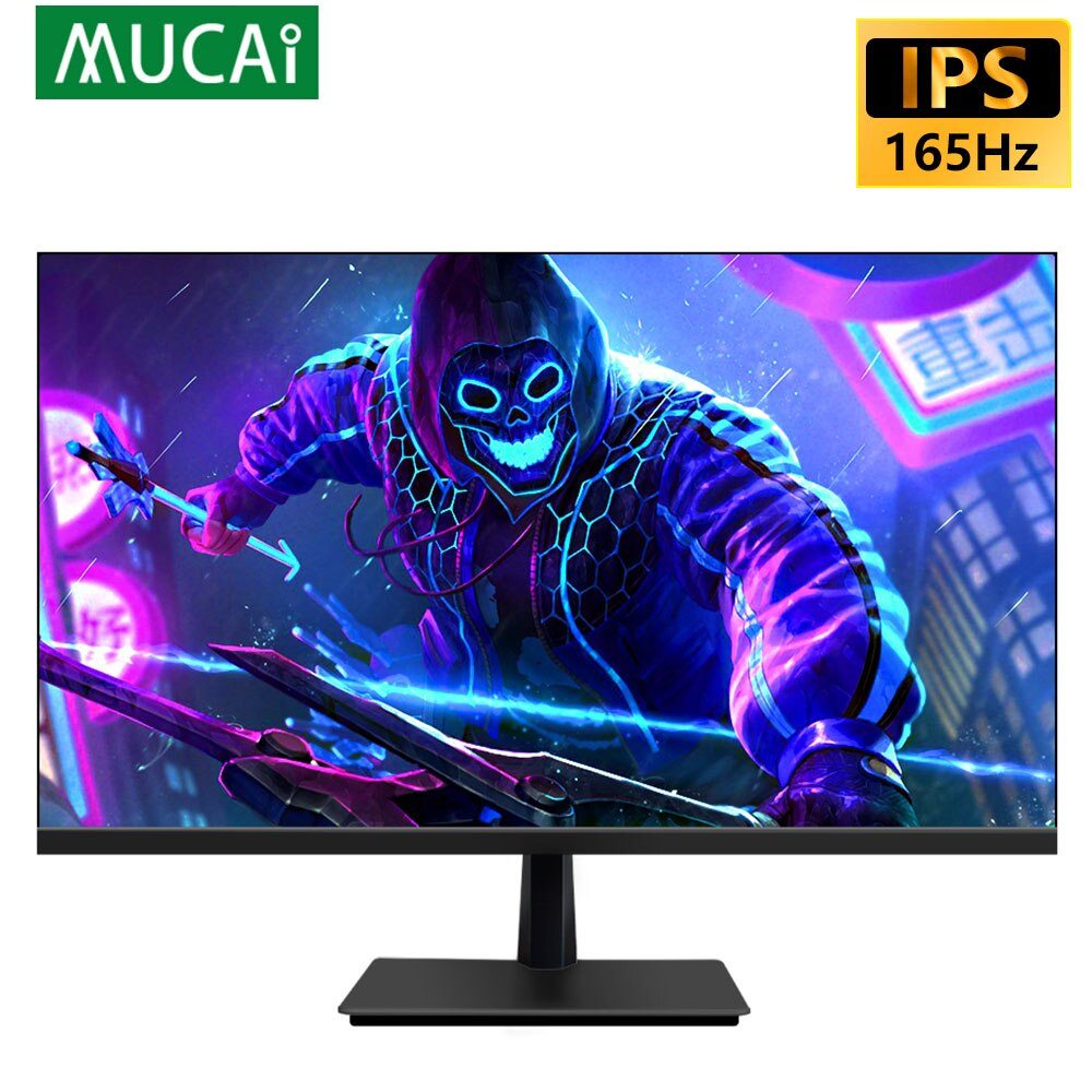 MUCAI 27 بوصة رصد 144 هرتز شاشة الكريستال السائل HD 165 هرتز سطح المكتب IPS كمبيوتر ألعاب شاشة لوحة مسطحة 1920*1080 استجابة 1ms HDMI/DP
