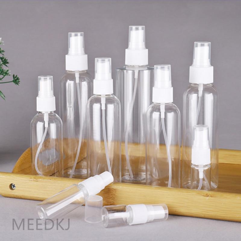 1 Uds botella de spray de aire transparente 30 ml / 50 ml / 80 ml / 100 ml mini atomizador de perfume de plástico embotellado de agua esterilizado