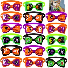 10pcs Halloween Dog Accessories Samll Dog Bow Tie Skull Style Pet Supplies Pet Dog Bowties Holiday D