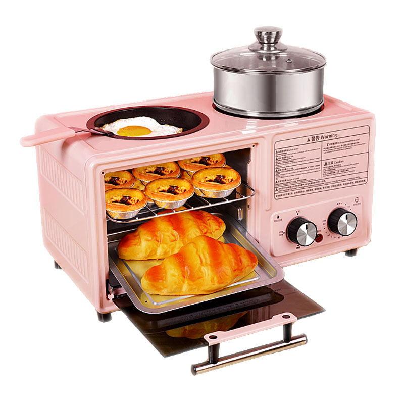 متعددة الوظائف أربعة في واحد وجبة الإفطار آلة الخبز ساندويتش كعكة البيتزا على البخار ، المغلي ، المقلية ، المشوي 8L سعة كبيرة