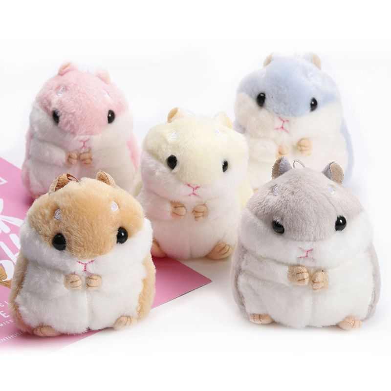 Femmes Mini mignon Hamster à fourrure en peluche porte-clés sac à main sac à main pendentif bijoux cadeau