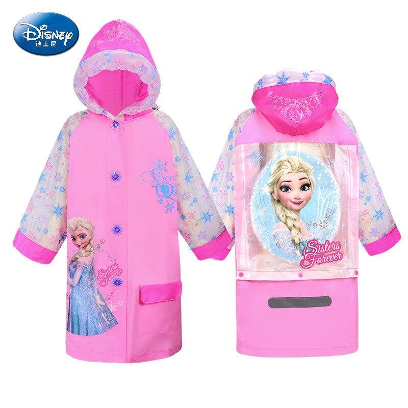 Chubasquero de dibujos animados para niños de Disney, chubasquero de princesa para niños, chubasquero de Frozen elsa, regalo de cumpleaños