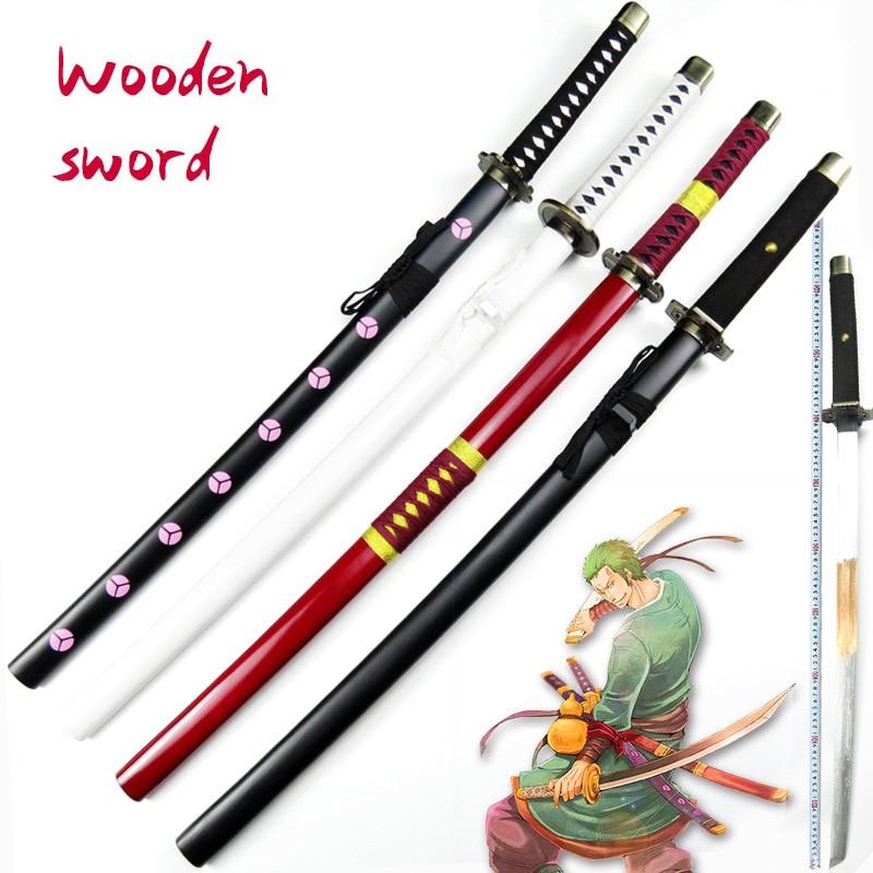 سلاح السيف الخشبي قطعة واحدة رورونوا زورو أنيمي تأثيري كاتانا اسبادا الخشب النينجا سكين سيف ساموراي الدعامة لعب للمراهقين