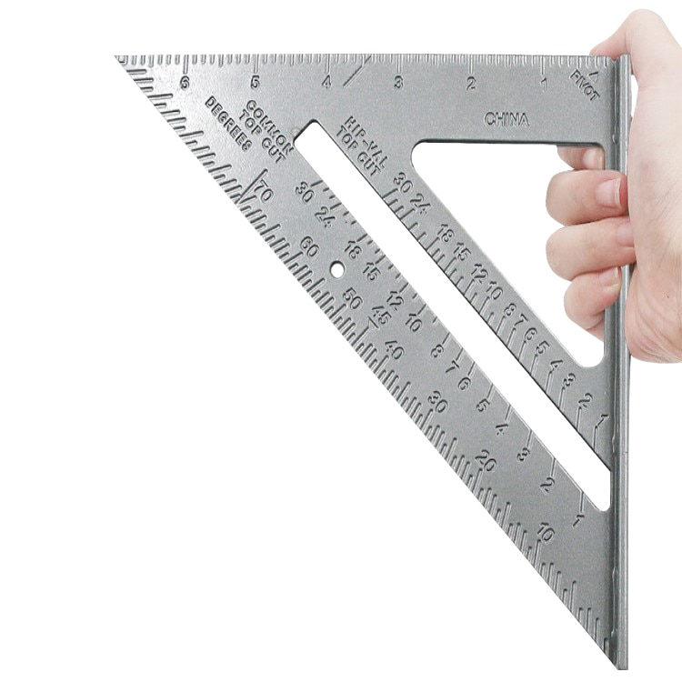 7 Triangle Ruler Aluminum Alloy Square Woodworking Measurement Tool Carpenter Speed Layout Tools