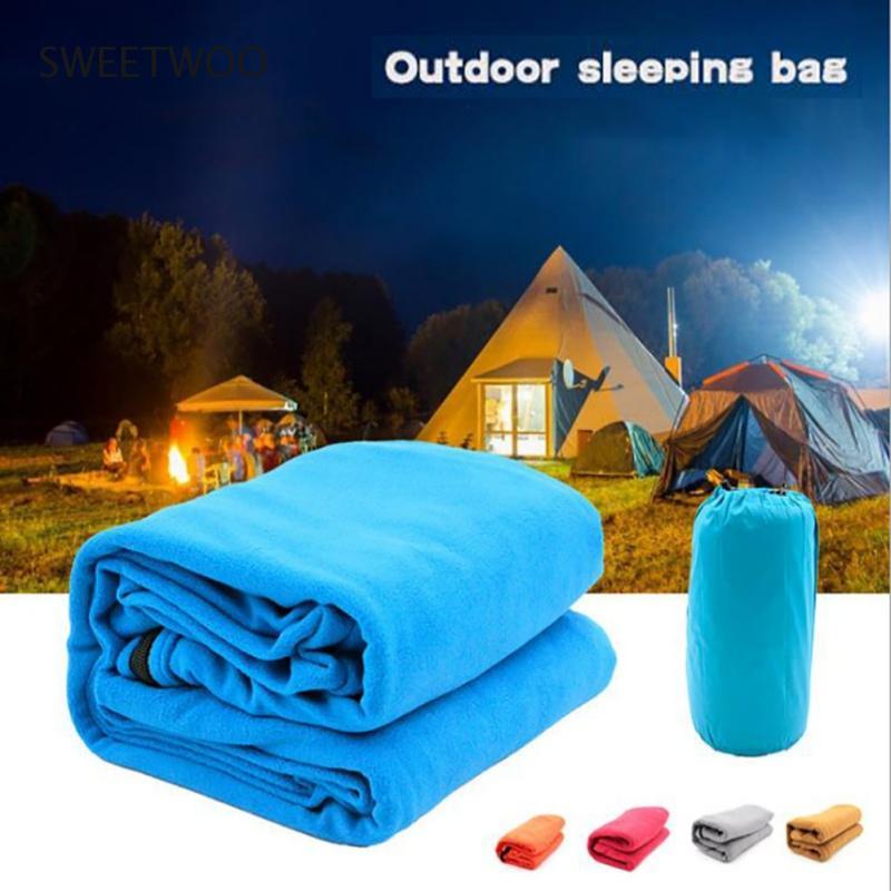 Portable Lightweight Polar Fleece Sleeping Bag Outdoor Camping Tent Bed Travel Warm Sleeping Bag Polar Fleece Liner
