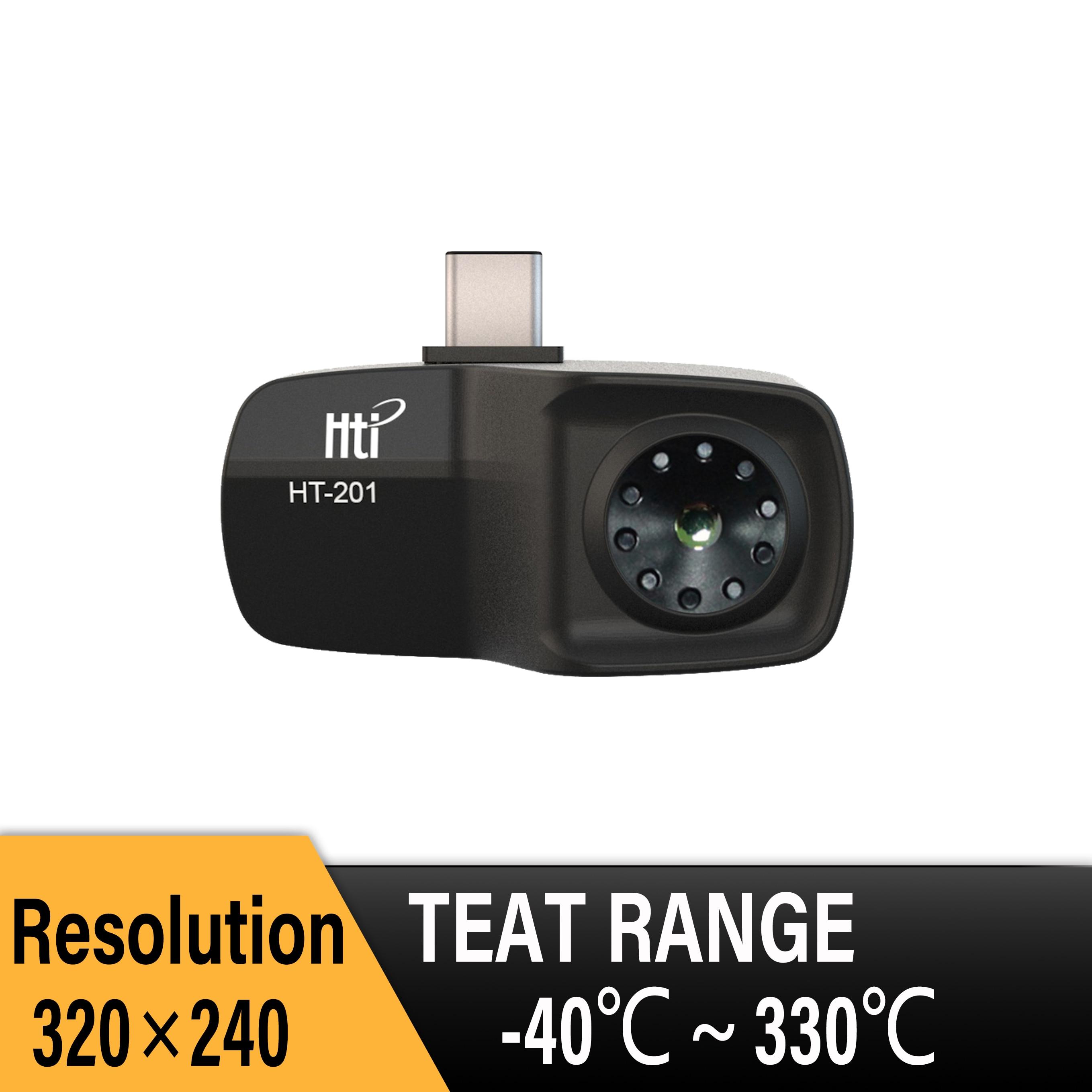 HT-201 هاتف محمول صغير كاميرا تصوير حراري كاميرا تصوير بالأشعة تحت الحمراء كاميرا حرارية دقة 320x240 متينة