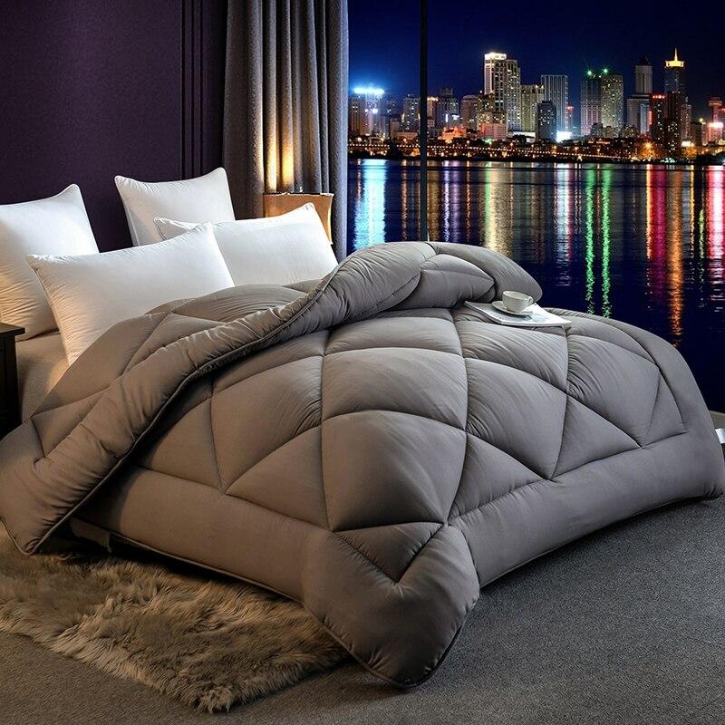 عالية الجودة الشتاء اختيار متعدد الألوان 100% ريشة النسيج لحاف الفاخرة لينة الدافئة بطانية لحاف الملك الحجم سرير مزدوج
