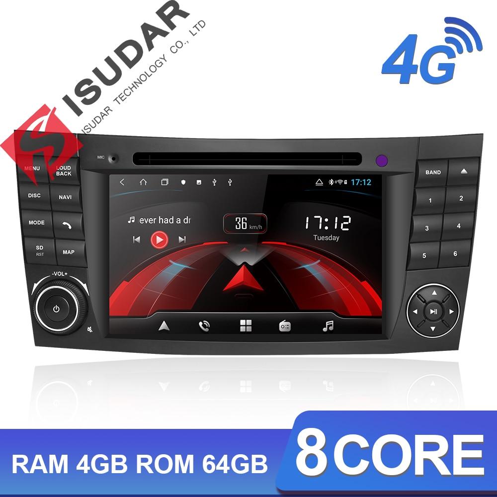 Isudar H53 4G Android 2 Din Auto Radio para Mercedes/Benz/e-class/W211 coche reproductor Multimedia DVD GPS 8 Core RAM 4GB ROM 64GB DVR