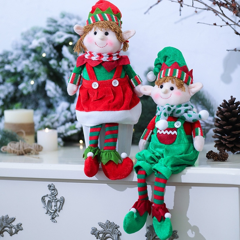 Long-legged Elf Doll Men's And Women's Elf Doll Decor Valentine's Day Xmas Dolls Window Props Decor Doll Valentine's Day Gifts