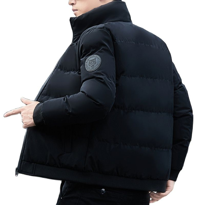 2021 Winter New Middle-aged and Young People's Thickened Warm Oversized Stand Collar Men's Cotton Padded Jacket