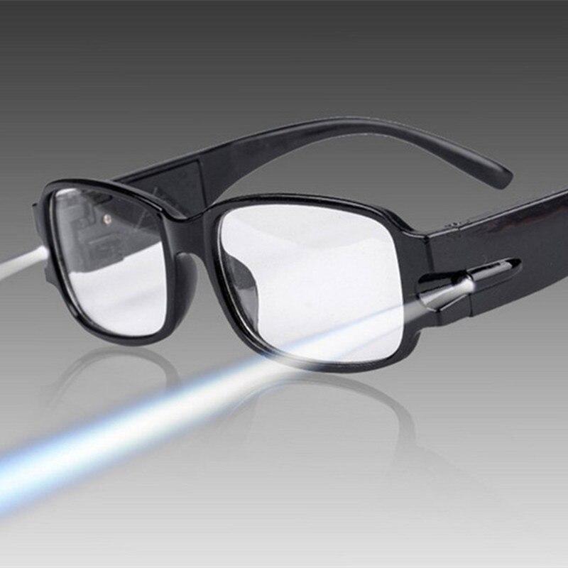 Luz led óculos de leitura clara + 1.00 1.50 2.00 2.50 3.00 3.50 4.00 diopter noite presbiopia óculos Óculos de leitura    -