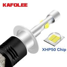 KAFOLEE No noise H4 H7 CANBUS H11 H8 9012 H9 HIR2 HB3 HB4 9005 9006 H13 H1 LED XHP50 Chip Car Headlight Bulbs 6000K 4300K 24V12V