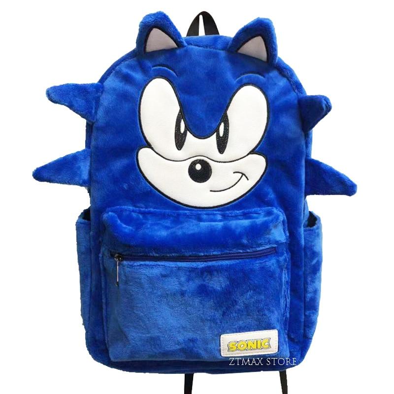 Mochila Sonic sonic Sonic Hedgehog, mochilas de peluche, mochilas escolares de 16 pulgadas para adolescentes, Mochila para niños, regalo
